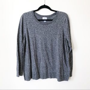 Peppered Grey Pullover Sweater // Old Navy